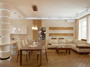 Дизайн-проект интерьеров загородного дома в японском стиле